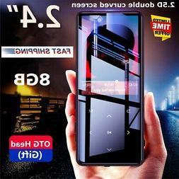 US Portable 8GB HiFi bluetooth Ultrathin Touch Screen Music
