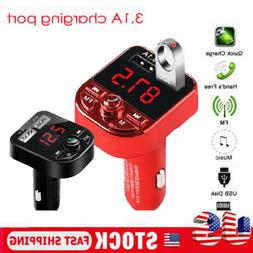 USA Bluetooth Car USB Charger FM Transmitter Wireless Radio