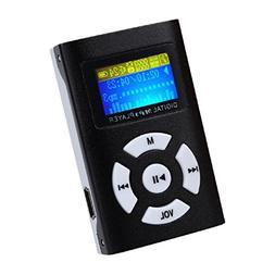 Sannysis USB Mini MP3 Player LCD Screen Support 32GB Micro S