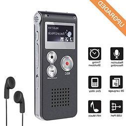 Digital Voice Recorder 8GB, Sound Recorder MP3 Player for Le