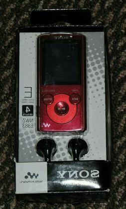 VTG SEALED Sony NWZE383 4GB WALKMAN Red E-Series Portable MP