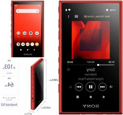 SONY WALKMAN 64GB Hi-Res A Series Audio Player NW-A107 Red E