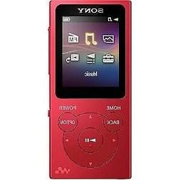 Sony Walkman NW-E394 8 GB Flash MP3 Player - Red - Photo Vie