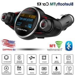 Wireless In-Car Bluetooth FM Transmitter Car Kit MP3 Audio A